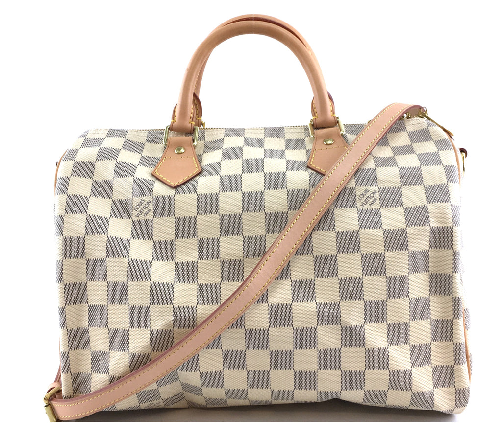 Louis Vuitton Speedy 30 Bandouliere Damier Azur Canvas
