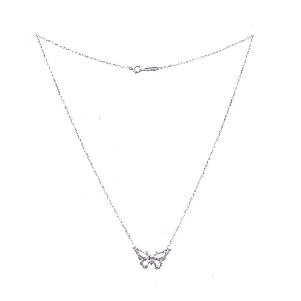Tiffany & Co. Platinum Diamonds Butterfly Necklace