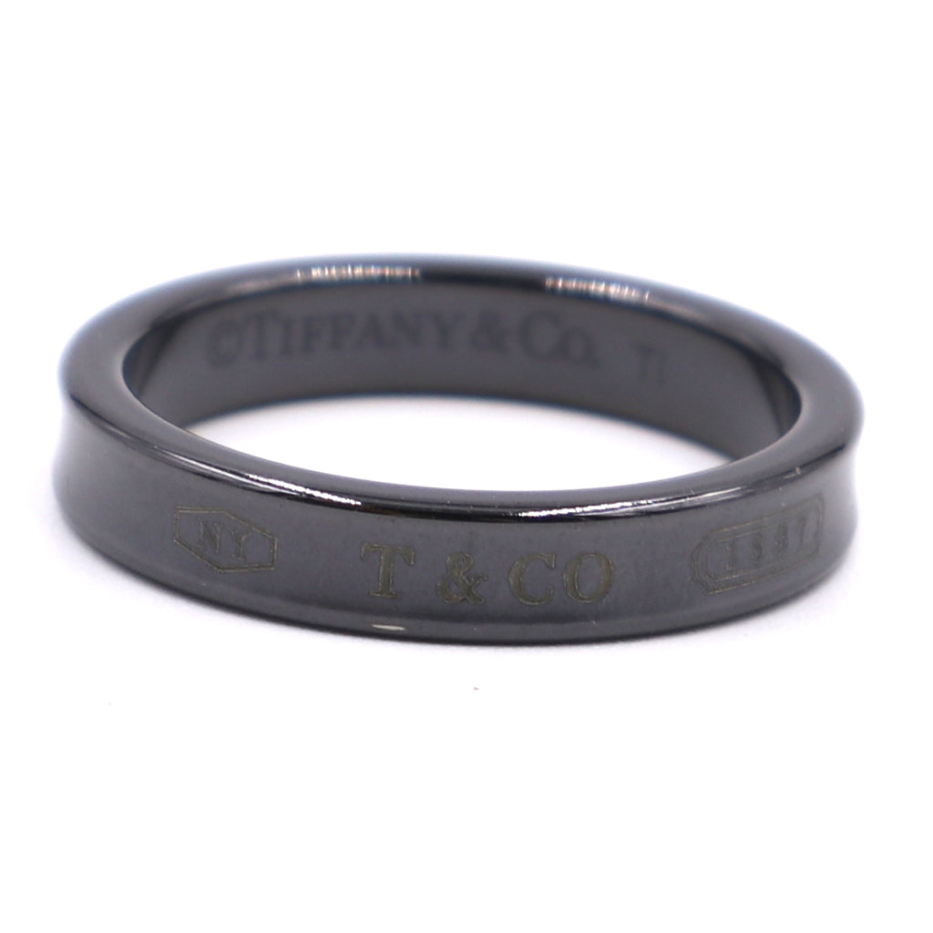 Tiffany & Co. Black Ceramic Classic 1837 Ring