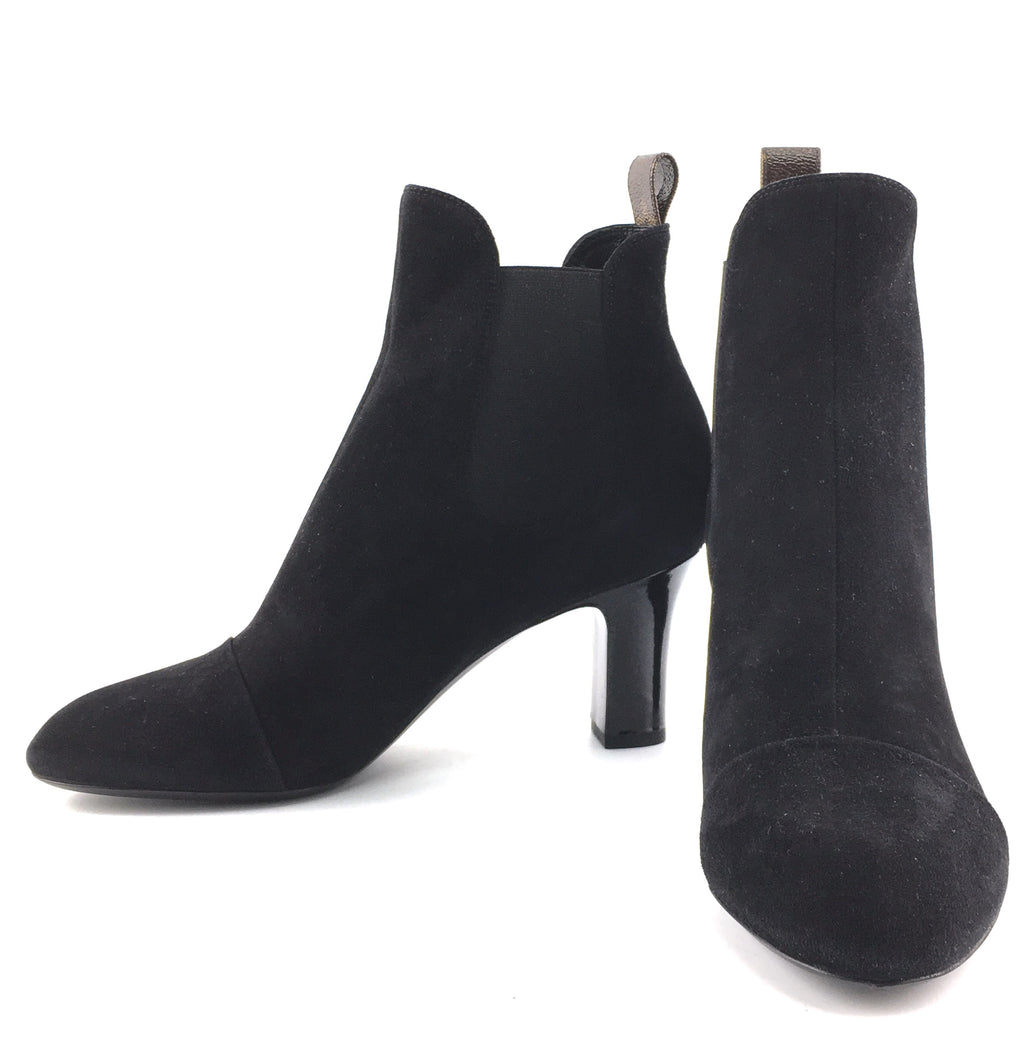 Louis Vuitton Black Suede Ankle Boots/Booties