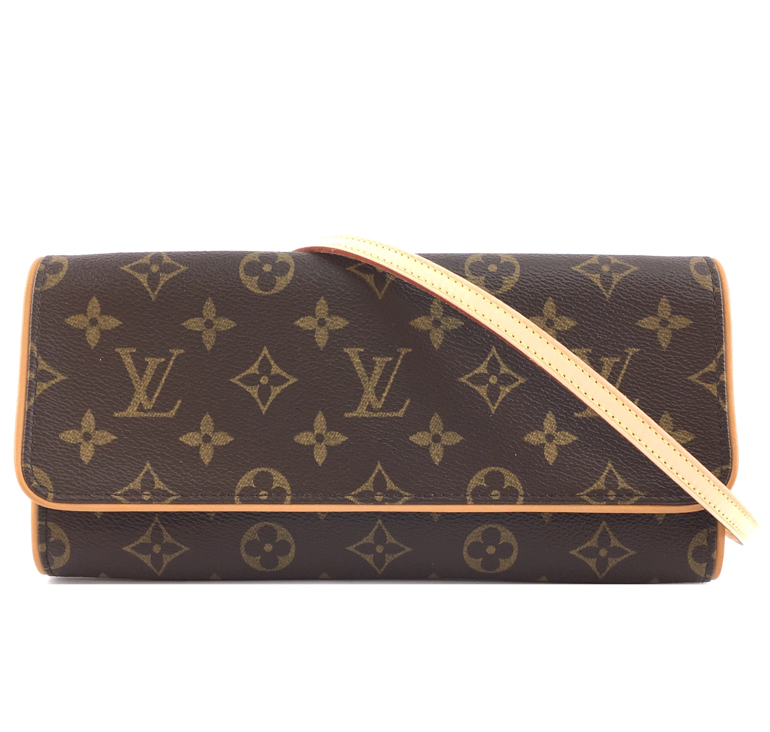 Louis Vuitton Clutch Twin GM Monogram Canvas