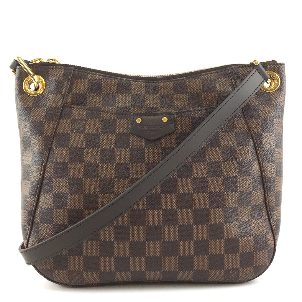 Louis Vuitton South Bank Besace Damier Ébène Canvas
