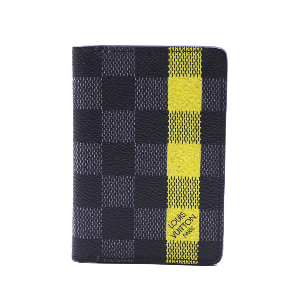 Louis Vuitton Damier Graphite Yellow Pocket Helios Bifold Wallet