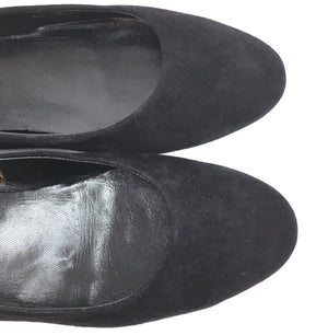 Louis Vuitton Black Suede Ballerina Flats