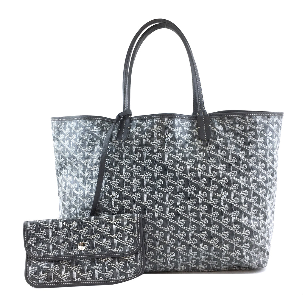 Goyard Saint Louis PM Grey Goyardine Canvas and Leather