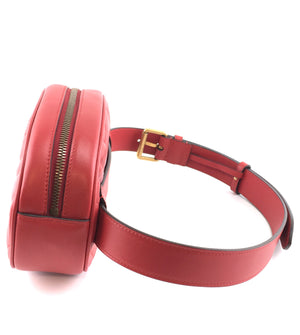 Gucci Marmont Waist Fanny Pack GG Red Leather
