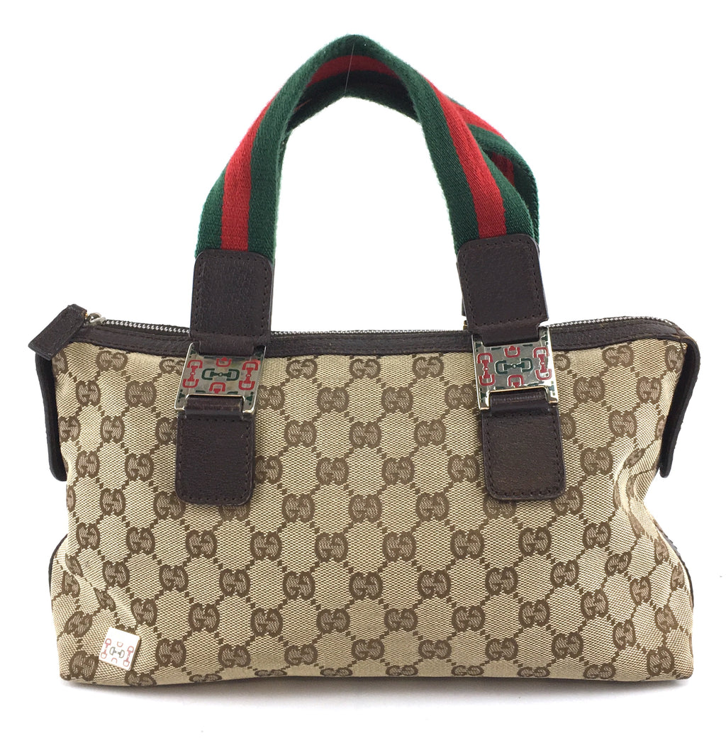 Gucci Boston Bag Horsebit GG Guccissima Canvas and Leather