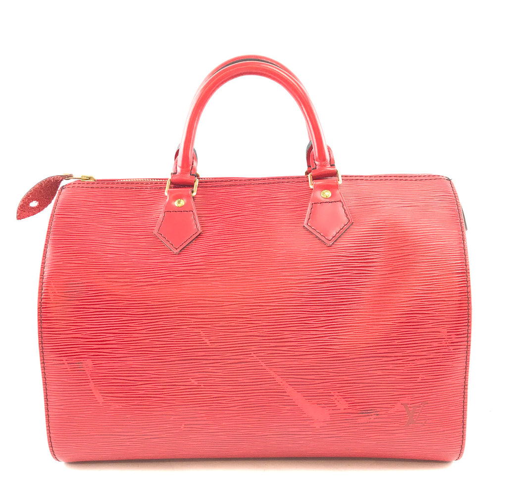 Louis Vuitton Speedy 30 Monogram Red Epi Leather