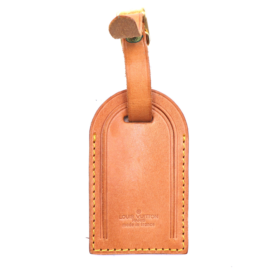 Louis Vuitton Natural Leather Monogram Luggage Tag