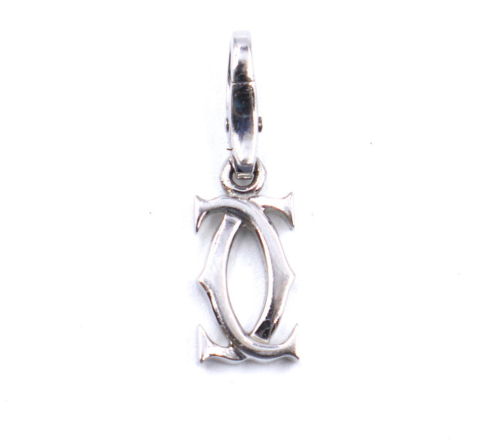 Cartier White Gold 18k 750 CC Necklace Pendant