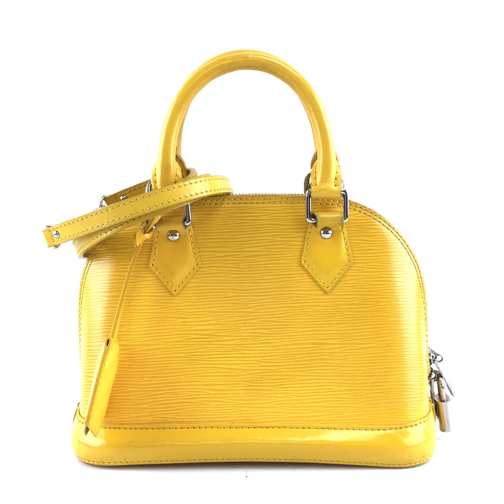 Louis Vuitton Alma BB Yellow Epi Leather