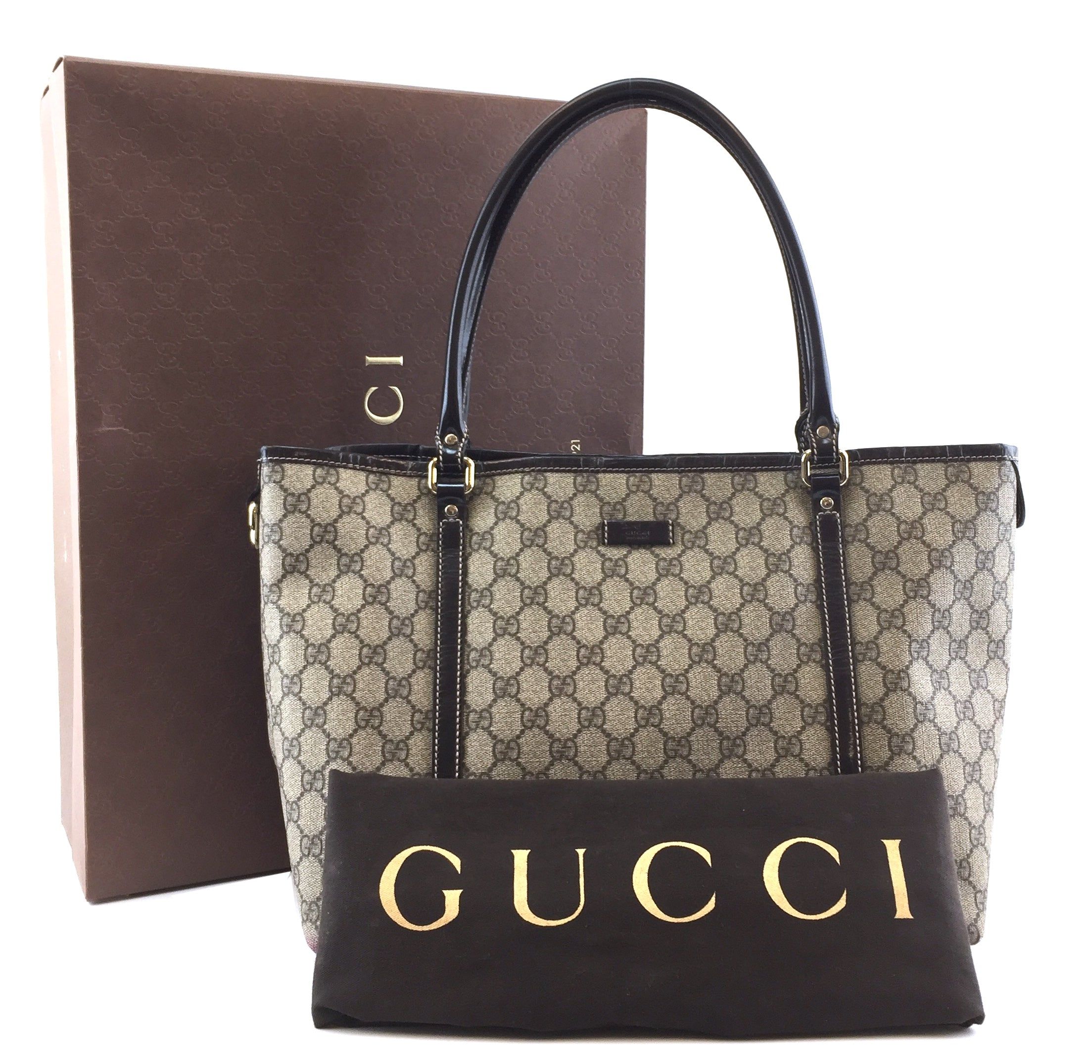 Gucci GG Shoulder Bag Joy Brown Canvas and Leather