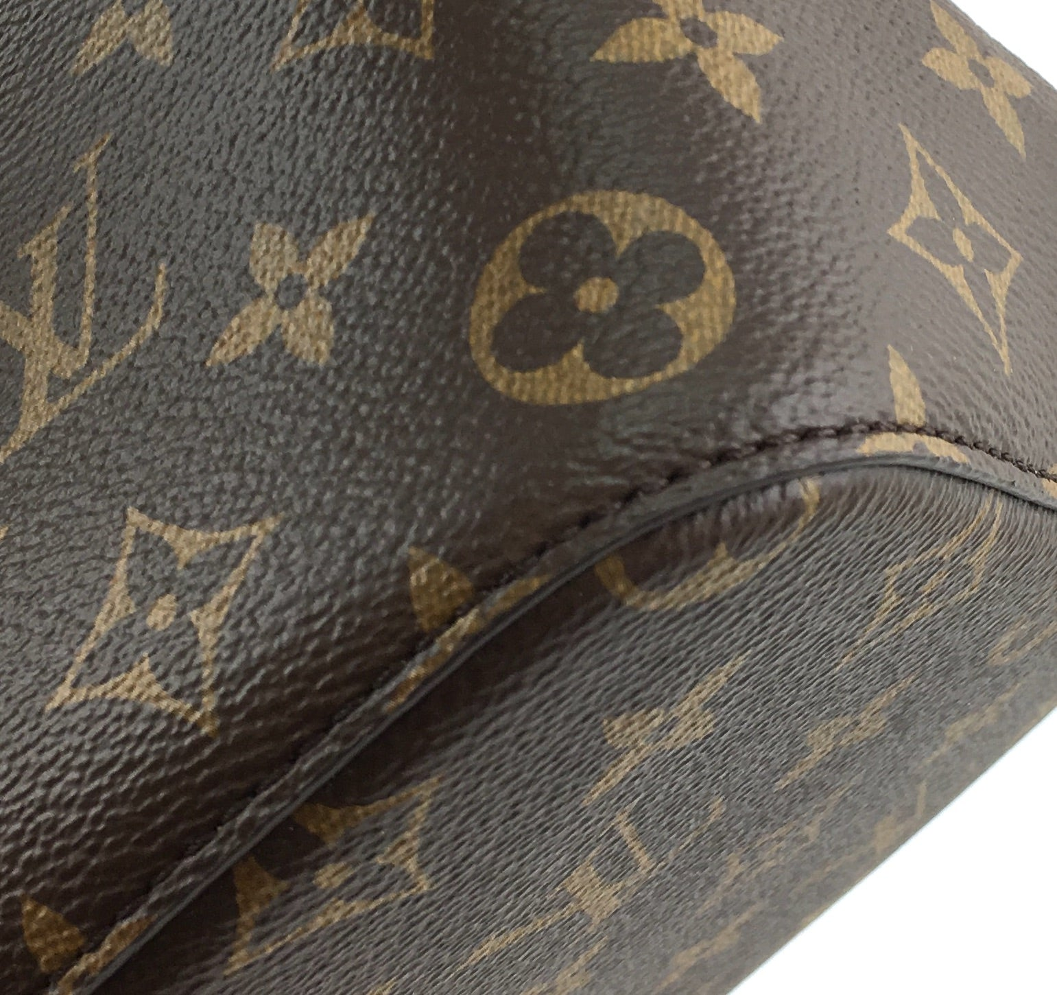 Louis Vuitton Neonoe Brown and Black Leather Monogram Canvas