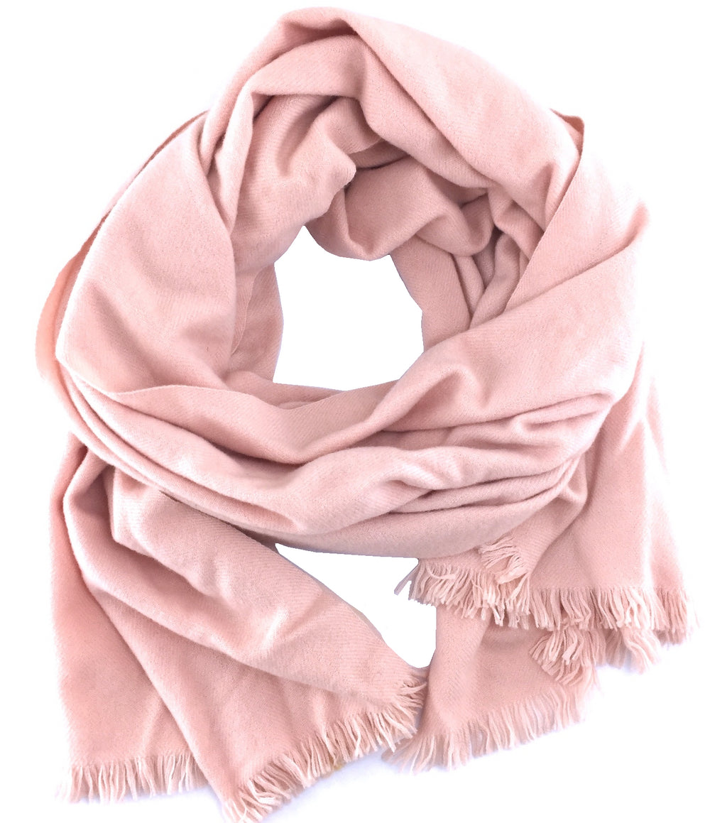 Hermes Baby Pink H Cashmere Scarf/Wrap