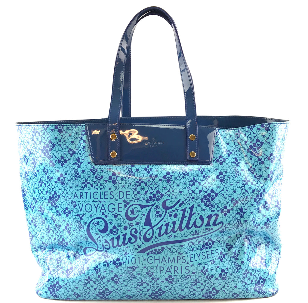 Louis Vuitton Cosmic Blossom GM Monogram Blue Leather Pvc