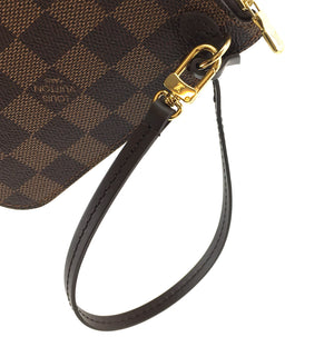 Louis Vuitton Neverfull Pochette XL Damier Ébène Canvas