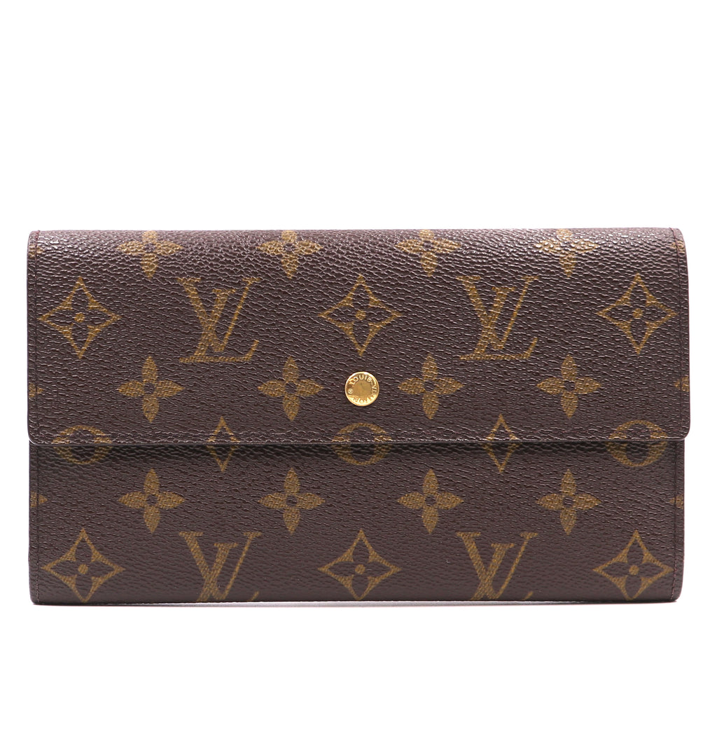 Louis Vuitton Monogram International Trifold Long Wallet