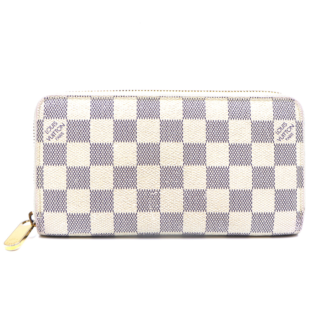 Louis Vuitton Damier Azur Zip Around Long Wallet