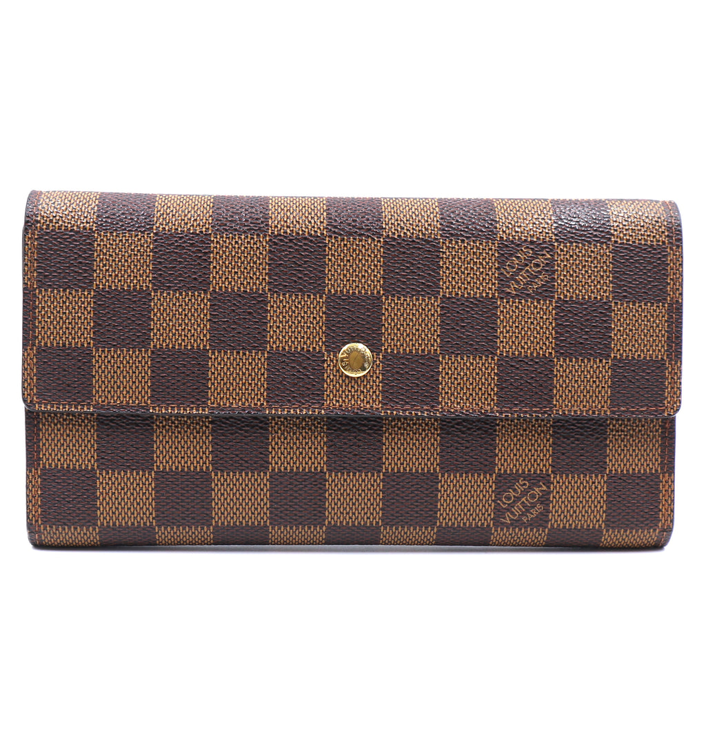 Louis Vuitton Damier Ebene Trifold International Long Wallet