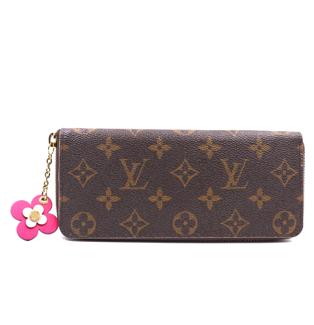 Louis Vuitton Monogram Flowers Zip Around Long Wallet
