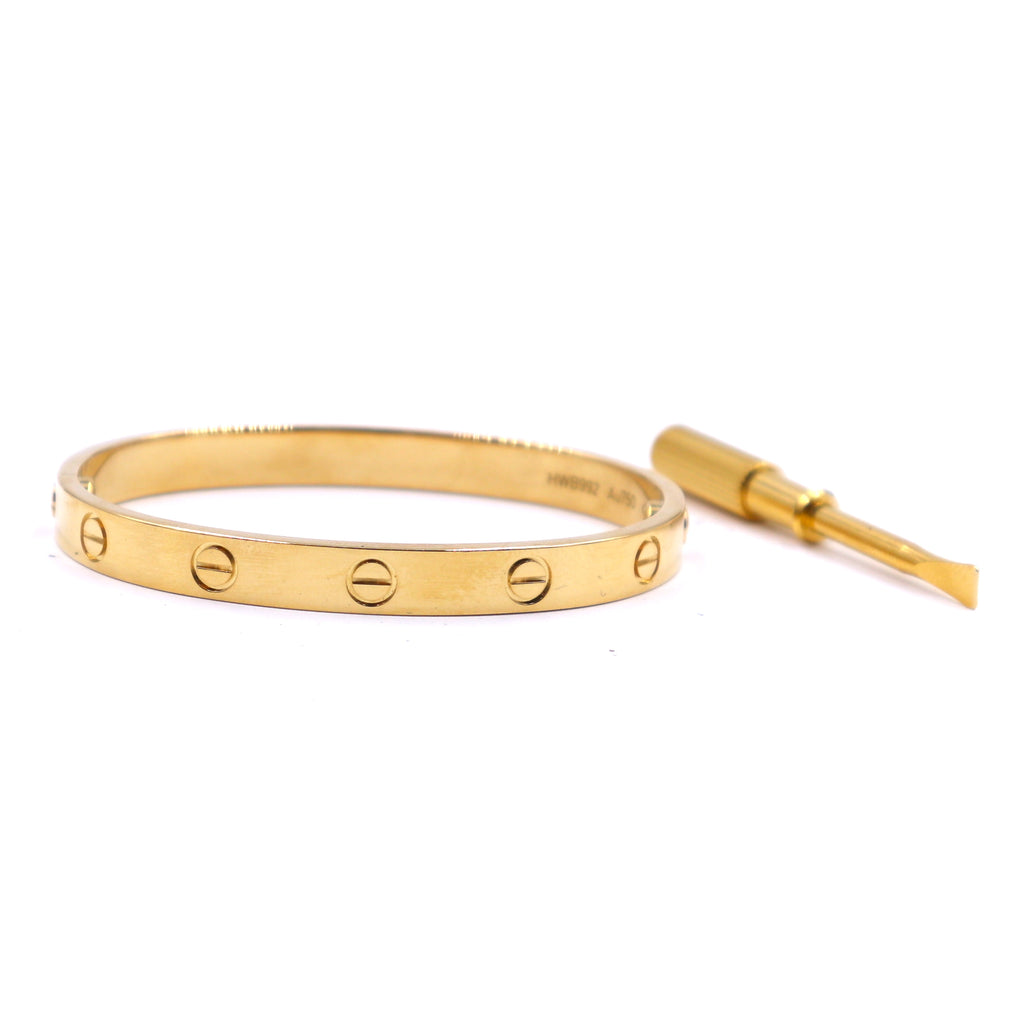 Cartier  18k 750 Love Bangle Screw System Size 16