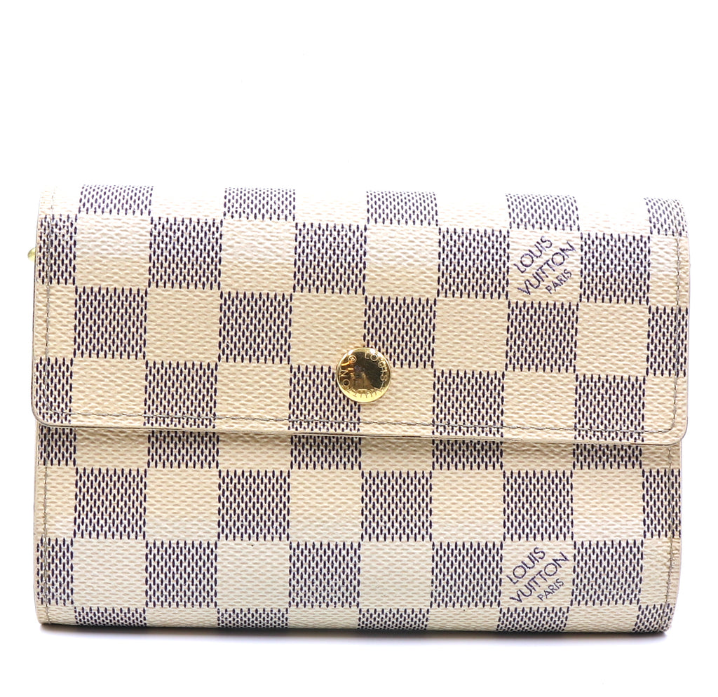 Louis Vuitton Damier Azur Alexandra Trifold Long Wallet