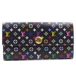 Louis Vuitton Black Multicolor Monogram Sarah Long Wallet