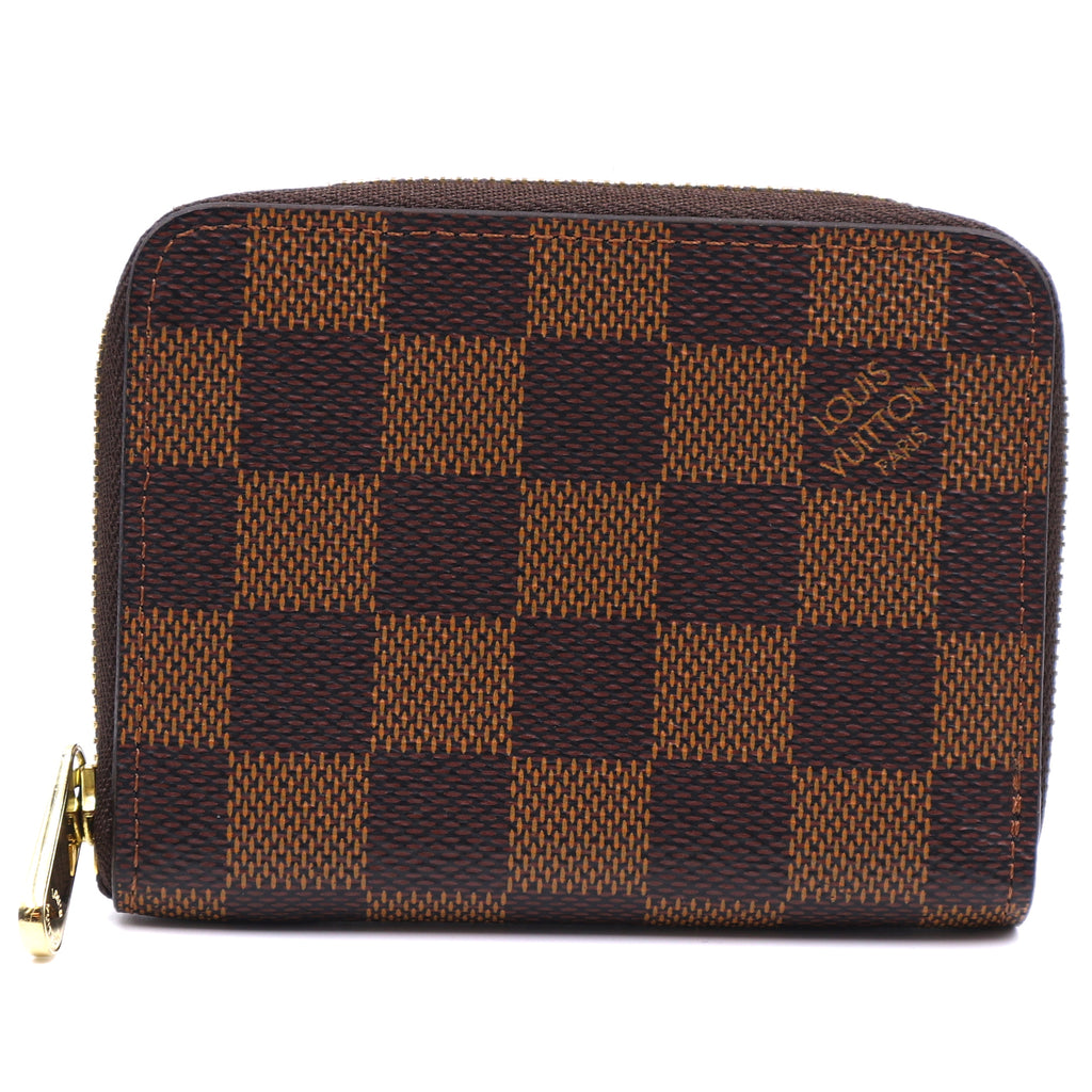 Louis Vuitton Damier Ebene Square Zip Around Card Wallet
