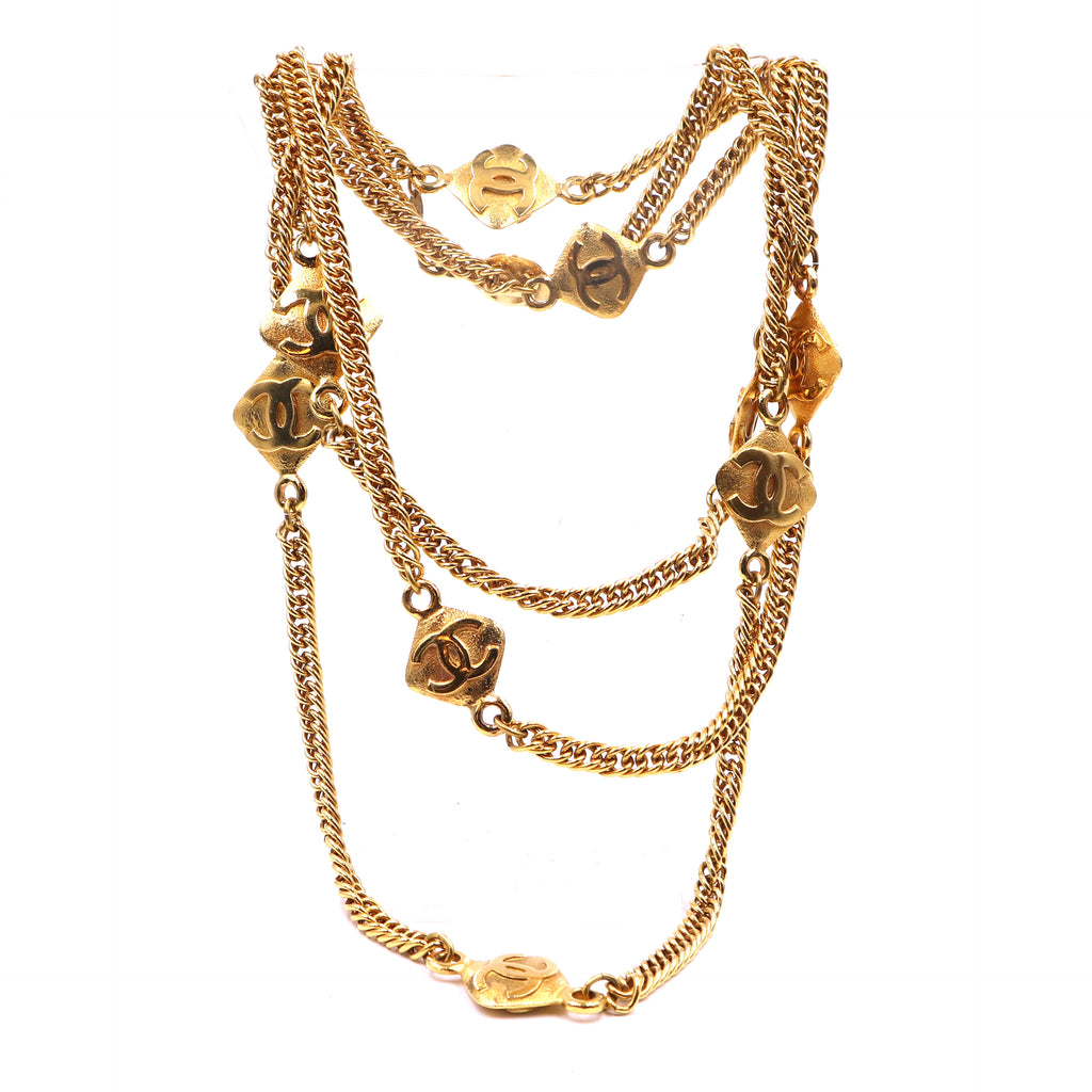 Chanel Gold 10 Motif CC Charms Long Necklace