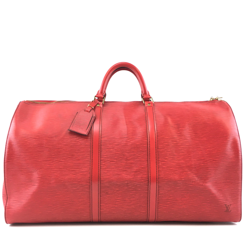Louis Vuitton Keepall 60 Red Epi Leather