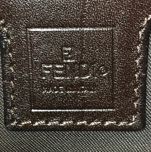 Fendi Green Brown Canvas and Leather Zucchino