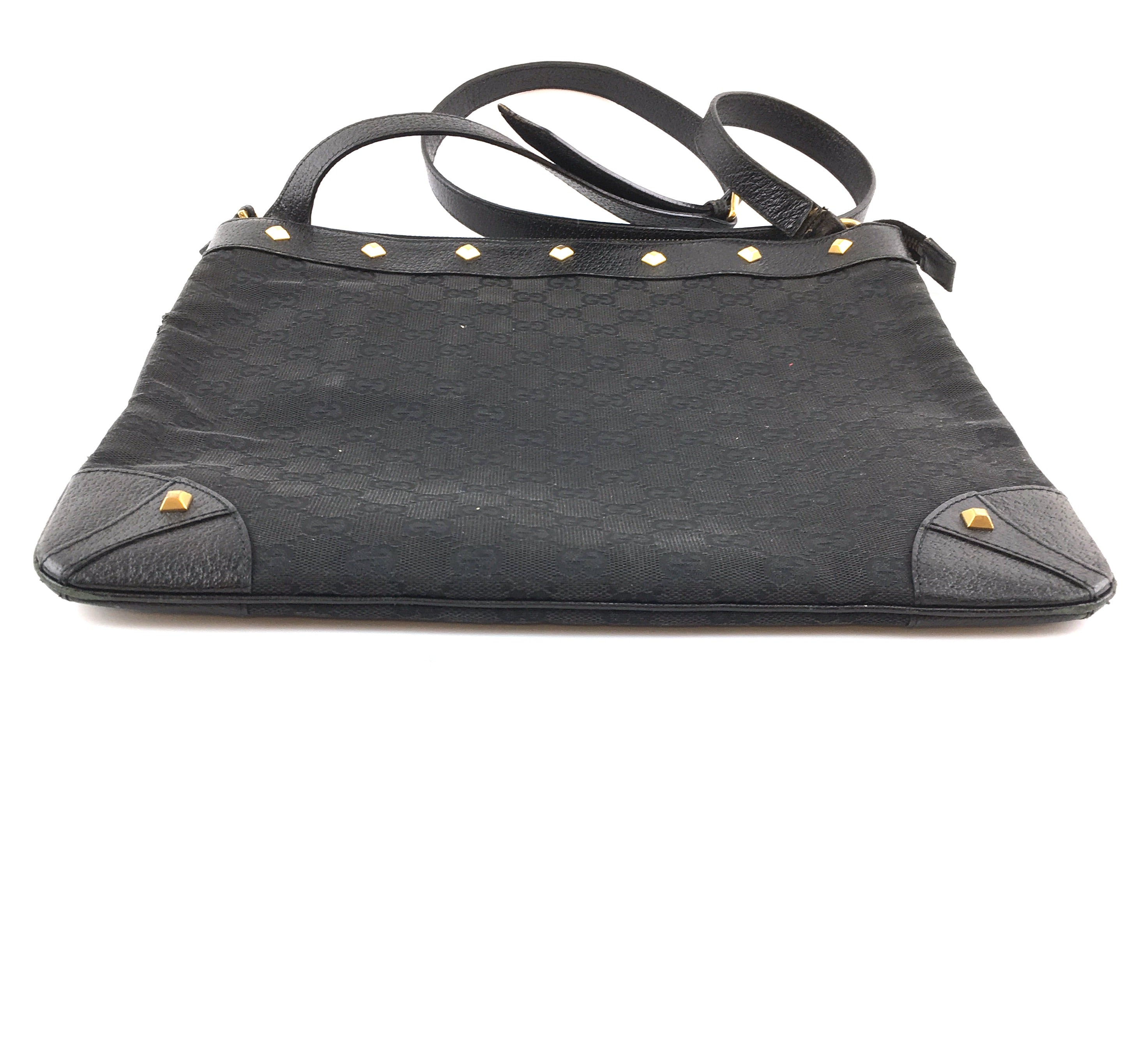 Gucci Messenger GG Guccissima Black Canvas and Leather