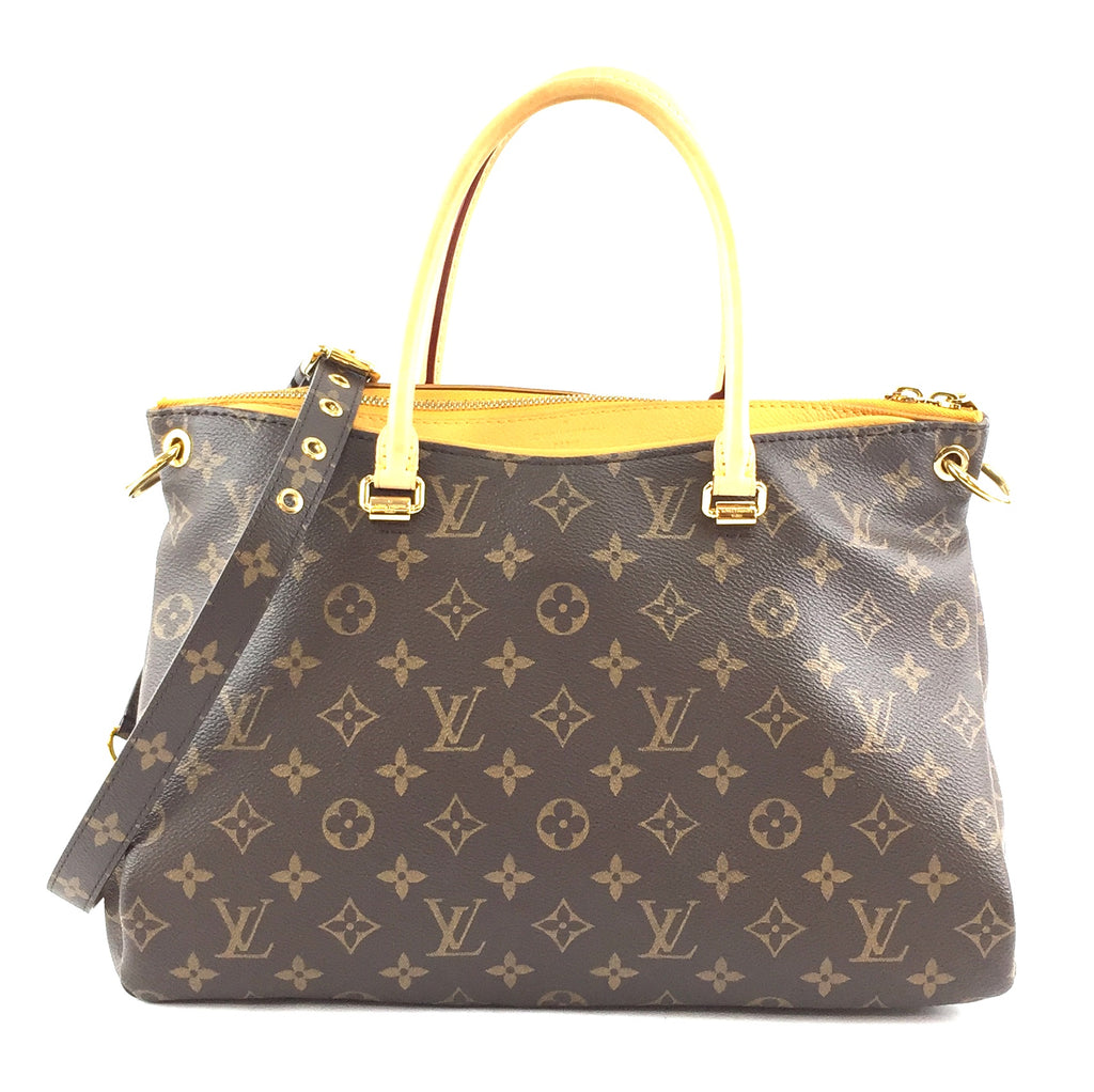Louis Vuitton Pallas Monogram Canvas Yellow Calf Leather