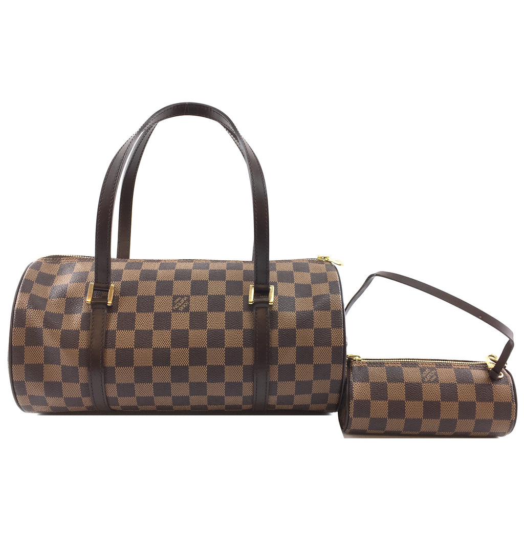 Louis Vuitton Papillon 30 With Mini Papillon Damier Ébène Canvas