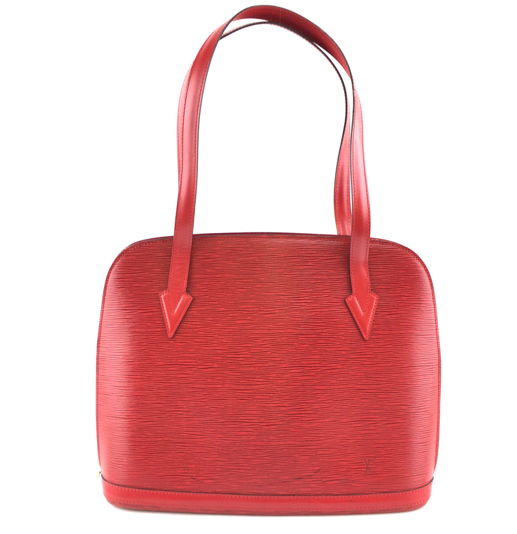 Louis Vuitton Lussac Large Red Epi Leather