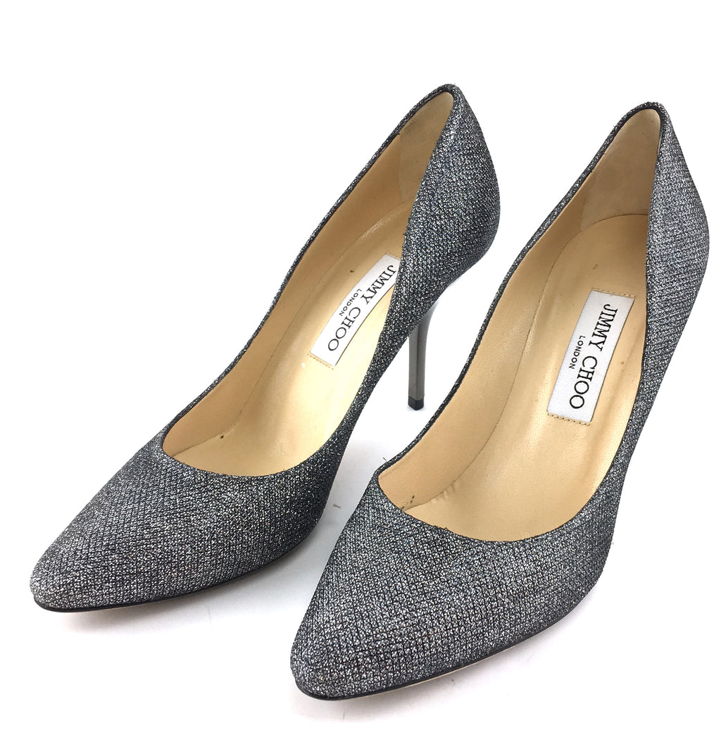 Jimmy Choo Silver Glitters Pumps