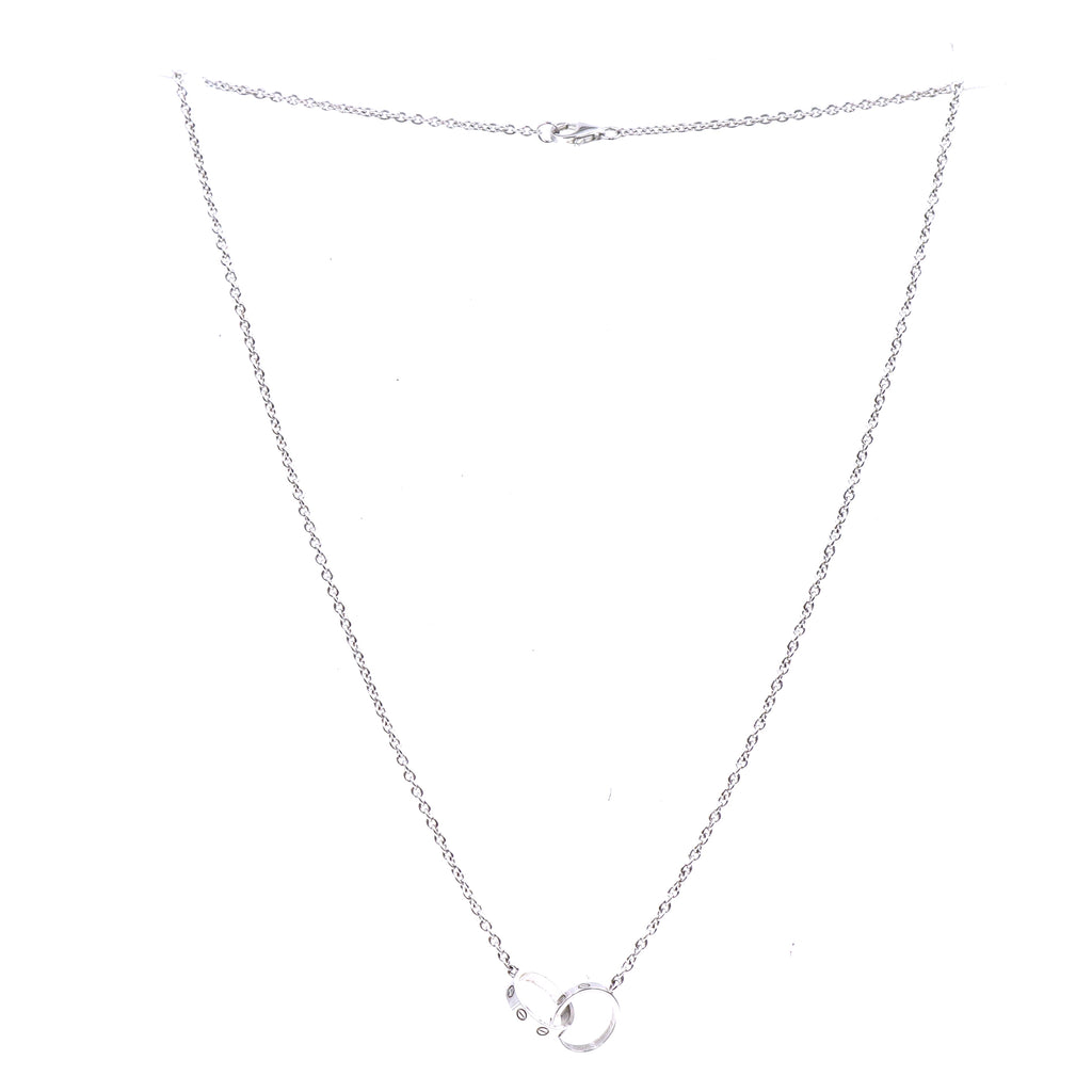Cartier 18k 750 Double Mini Ring Charms Necklace