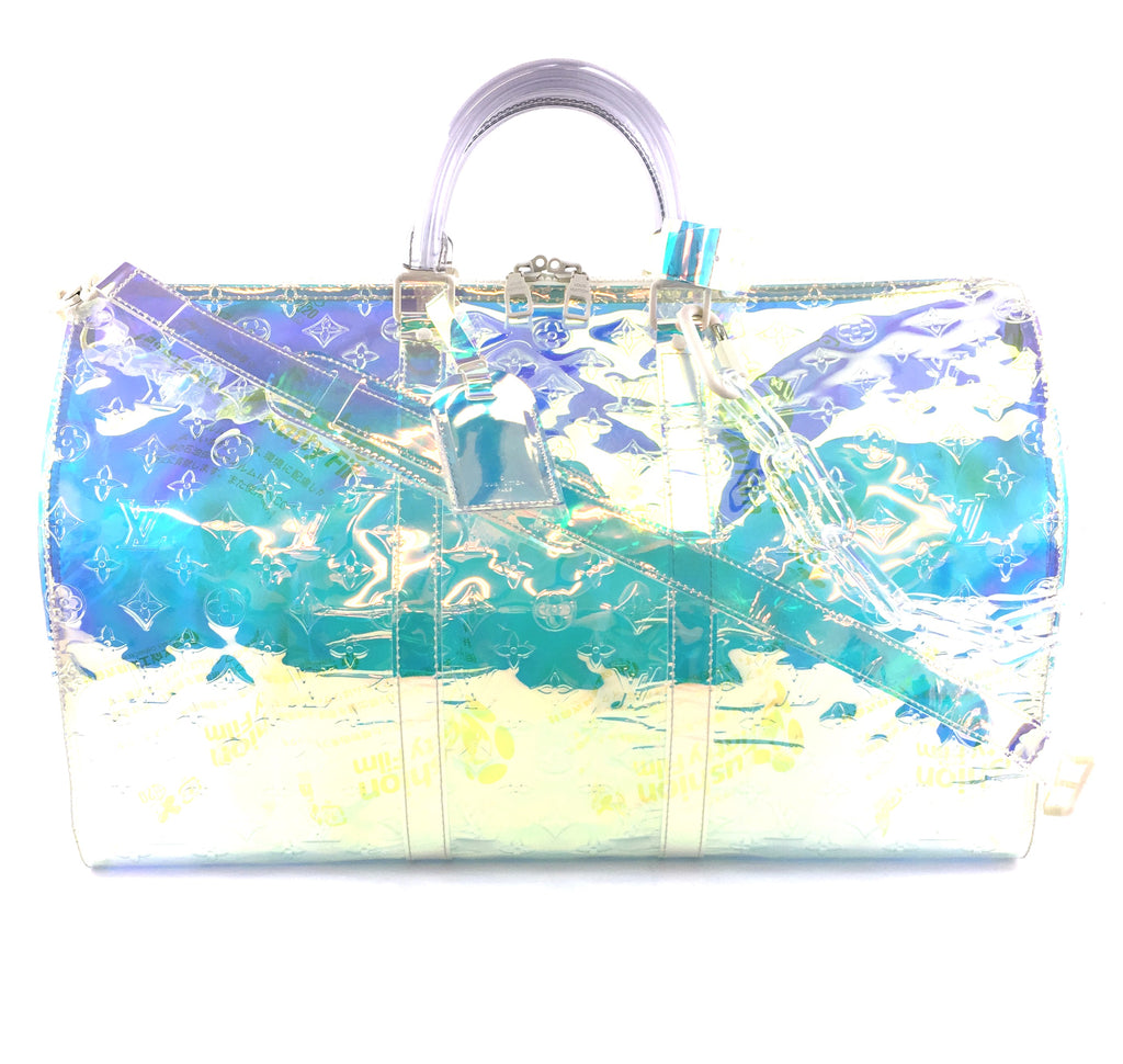 Louis Vuitton Keepall 50 Bandouliere Clear Prism PVC