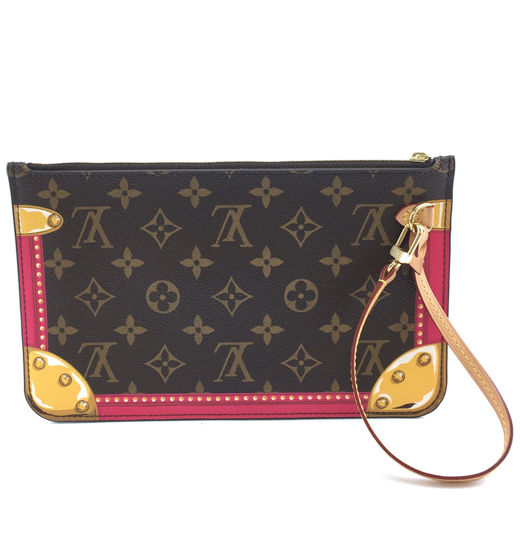 Louis Vuitton Neverfull Pochette Summer Trunks Monogram Canvas