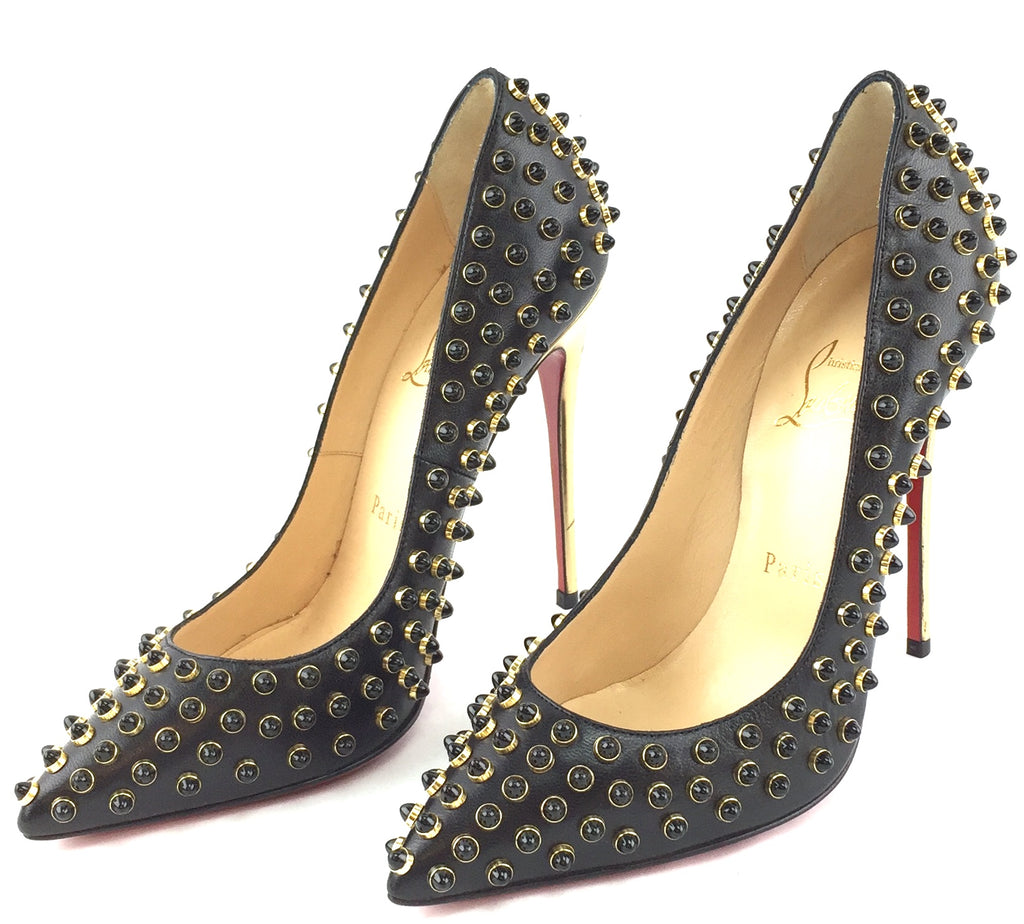 Christian Louboutin Follies Cabo 120 Kid/Specchio Studded Pumps