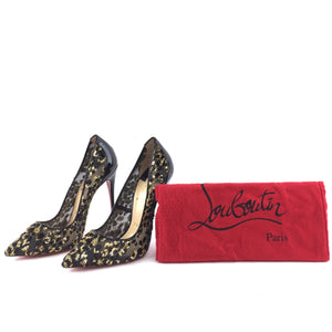 Christian Louboutin Follies Lace 120 Leo Chiffon Leopard Pumps