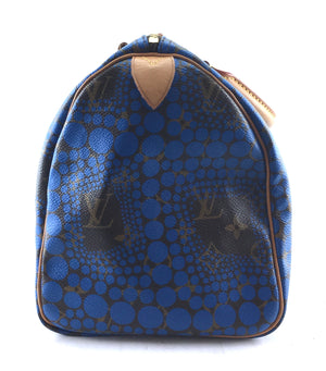 Louis Vuitton Kusama Blue Dot Wave Monogram Speedy 30