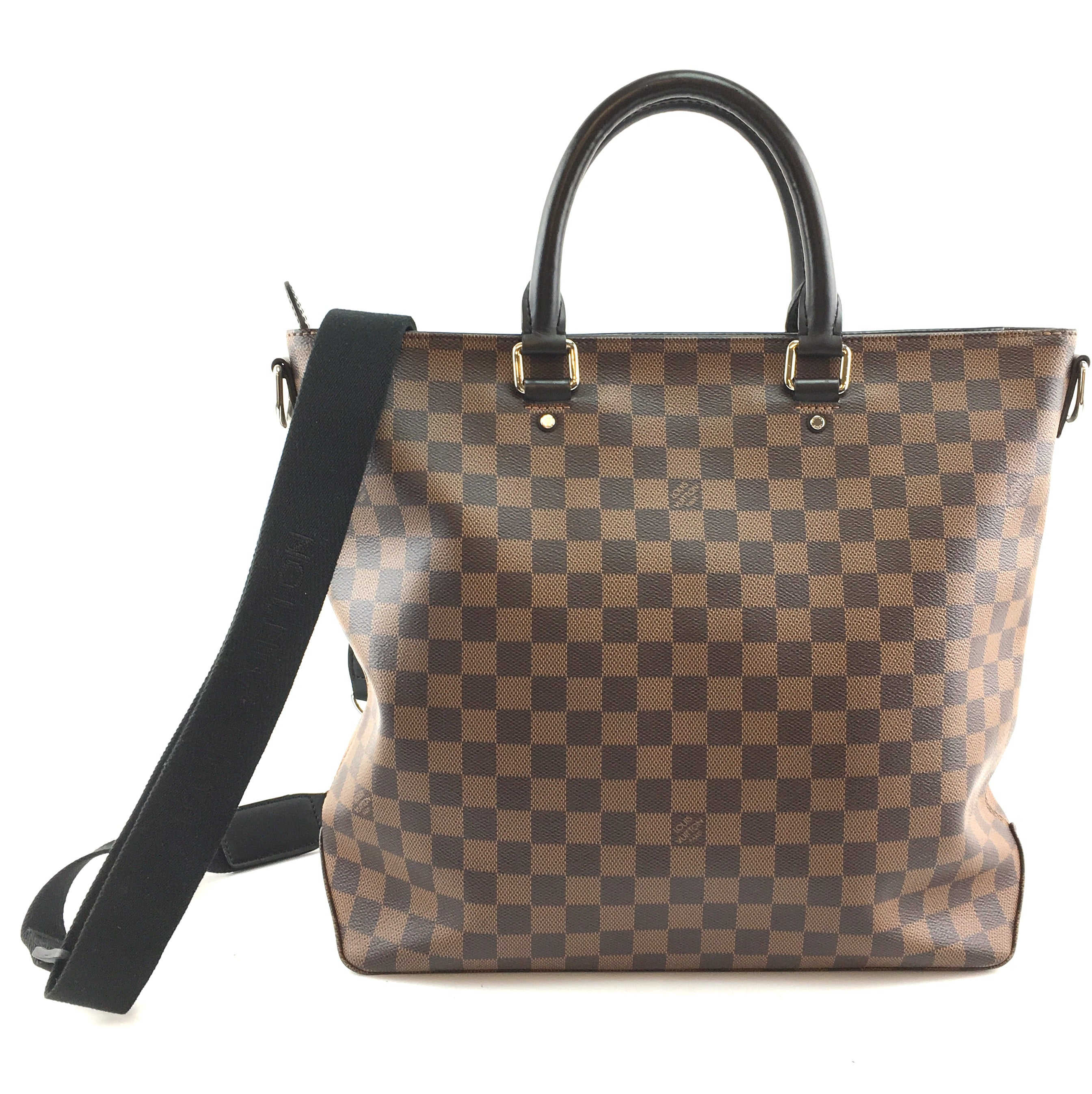 Louis Vuitton Jake with Strap Tote Damier Ébène Canvas