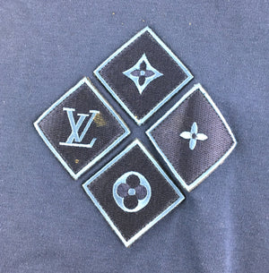 Louis Vuitton For Men Monogram Diamond Logo Tee Shirt
