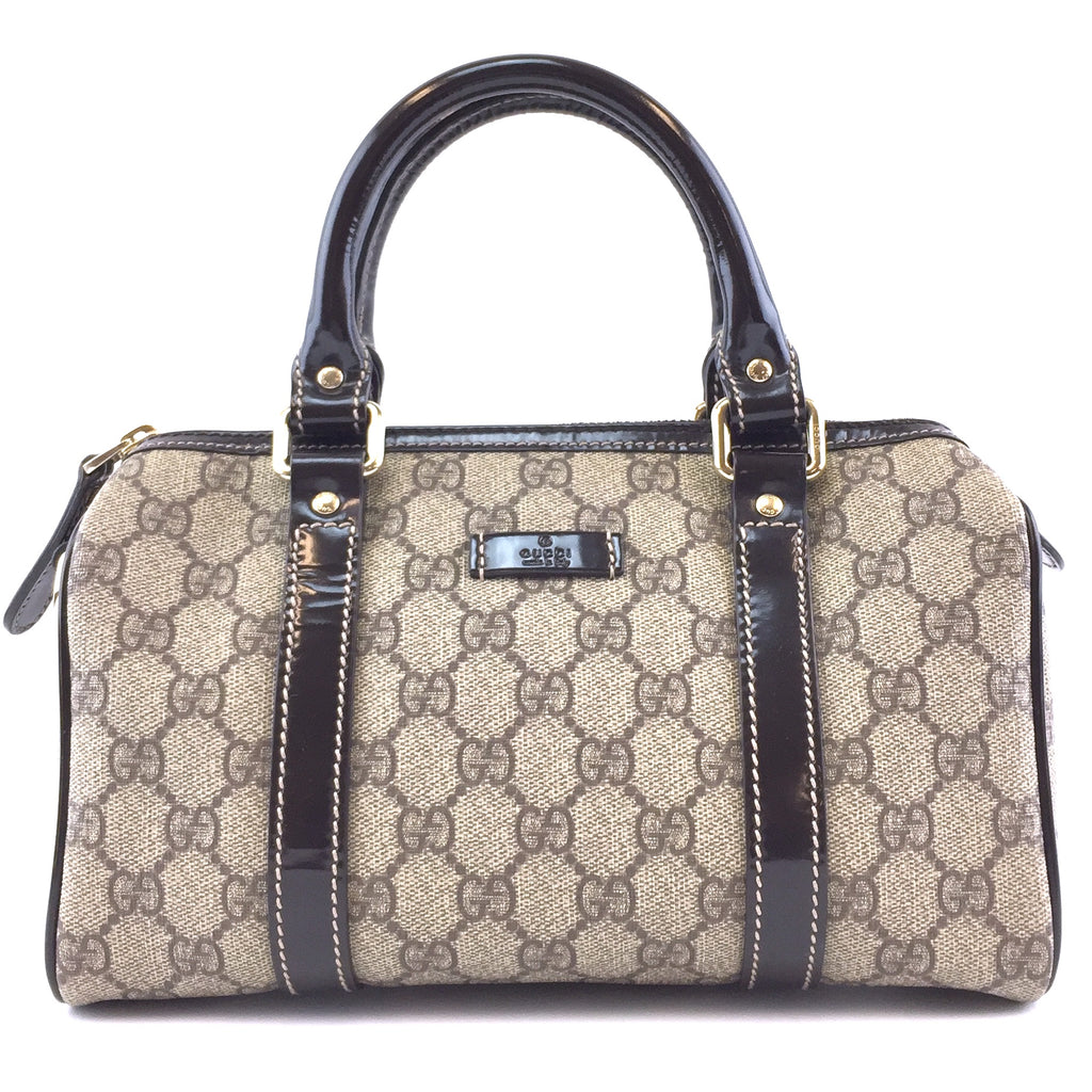 Gucci Boston Joy GG Guccissima Beige Brown Canvas