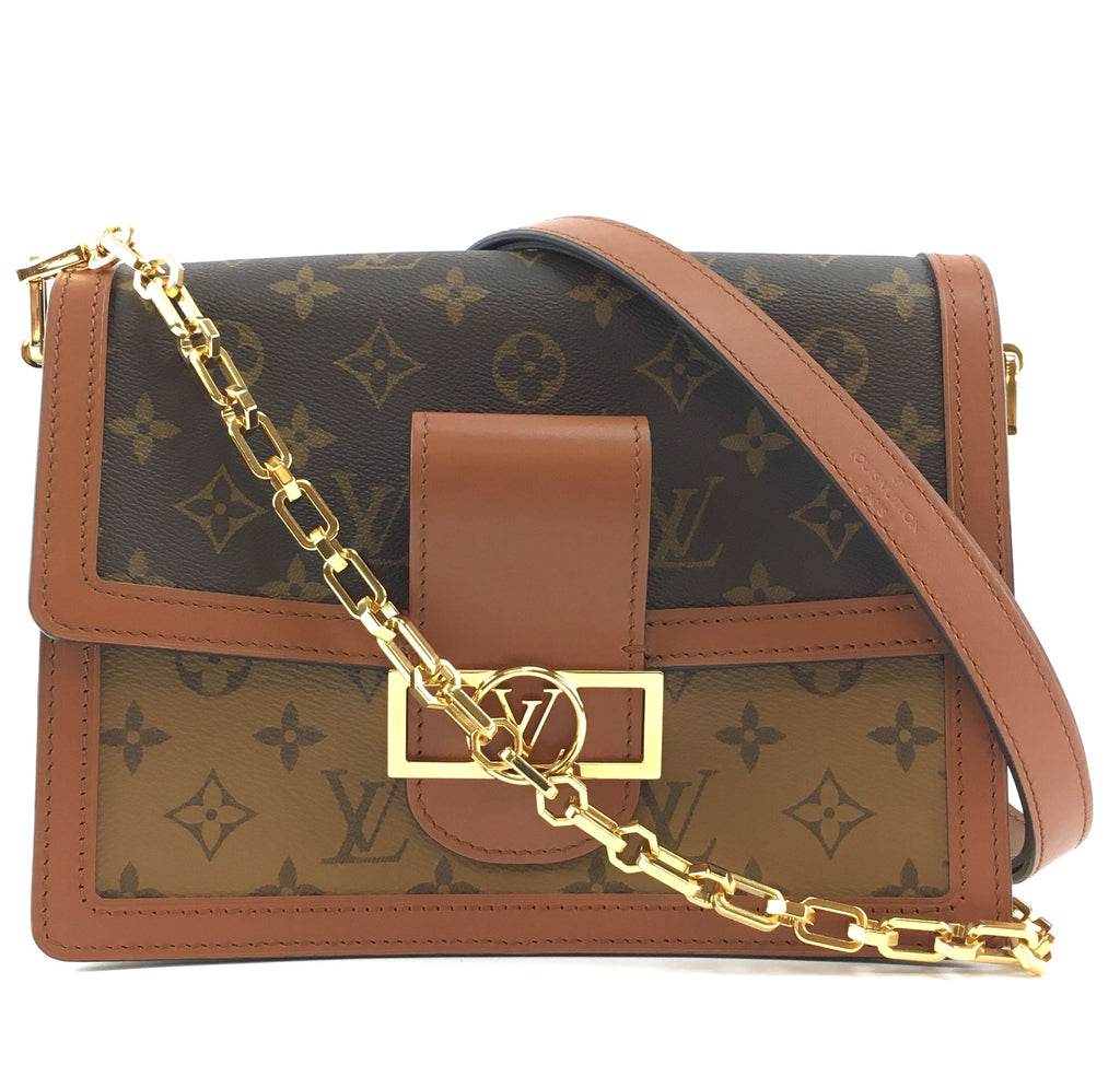 Louis Vuitton Dauphine MM Monogram Canvas and Monogram Reverse Canvas