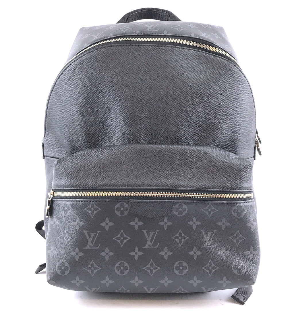 Louis Vuitton Discovery Monogram Eclipse Canvas Taiga Leather