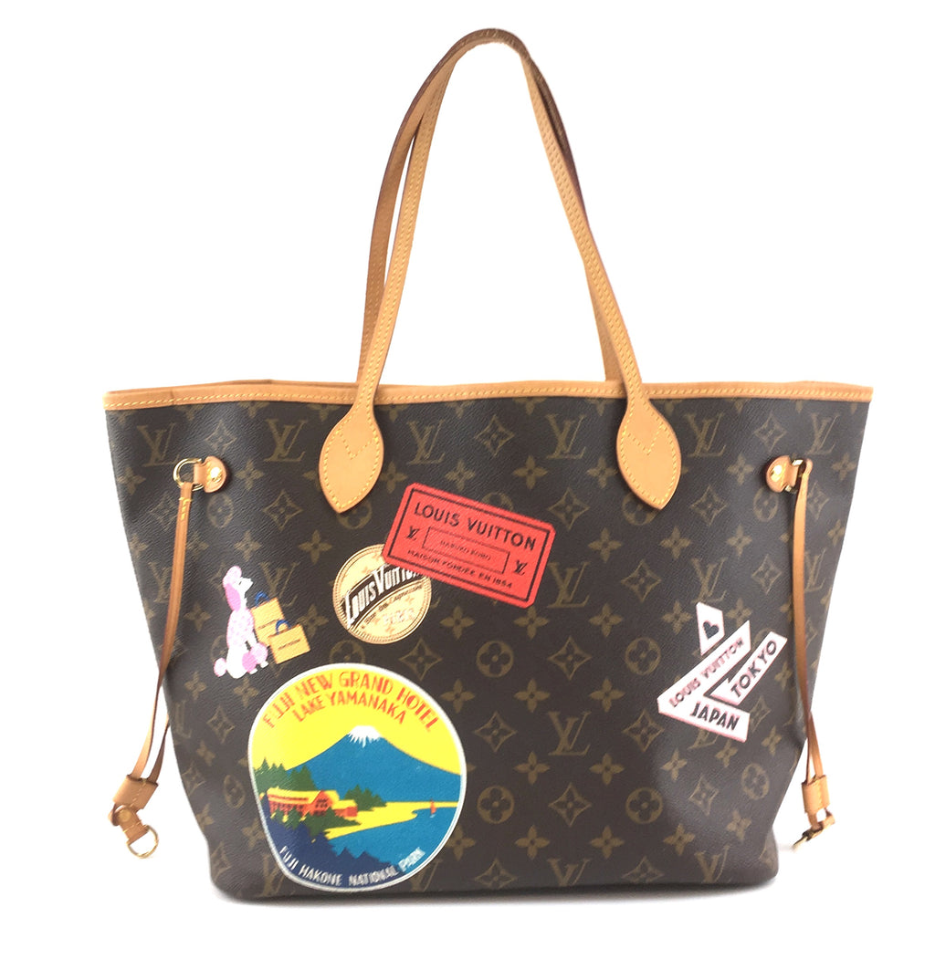 Louis Vuitton Neverfull MM with Stickers Monogram Canvas