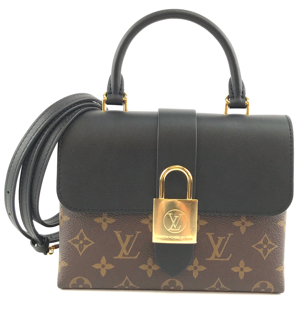 Louis Vuitton Locky BB Monogram Canvas Noir Calfskin