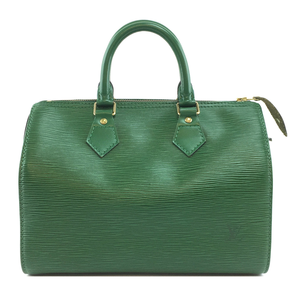 Louis Vuitton Speedy 25 Green Epi Leather